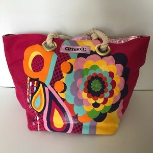 amika Bags - Amika Large Tote Pink